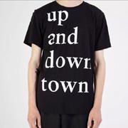 エチュード up and downtown Tシャツ コットン ブラック