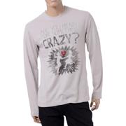 アルマーニジーンズ クレイジーロングTシャツ レギュラー グレー