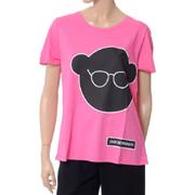 エンポリオアルマーニ ベアプリントTシャツ コットン ピンク