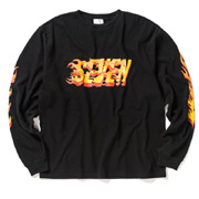 スタジオセブン セブンプリントロングTシャツ コットン ブラック