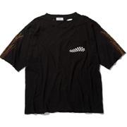 スタジオセブン ダメージ加工ハーレープリントポケットTシャツ コットン ブラック