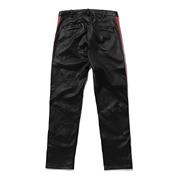 スタジオセブン Line Leather Pantsレ ザーパンツ 羊革 レッドブラック