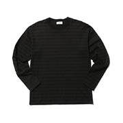 スタジオセブン Shadow SEVEN Border Bacic LS Tee セブンボーダーロングTシャツ ブラック