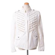 エルマノシェルビーノ 刺繍入りジャケット カットレース ホワイト