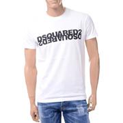 ディースクエアード ロゴTシャツ コットン ホワイト