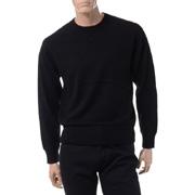 プラスプラス クルーネックセーター カシミヤ ブラック