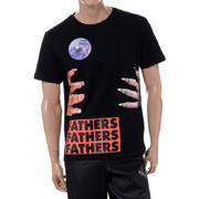 ラフシモンズ Slim fit short sleeved T-shirt with graphic nails