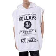 ラフシモンズ Oversized sleeveless hooded sweater + Kollaps