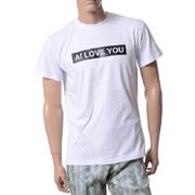 アンドレアインコントリ AI LOVE YOU オーバーフィット半袖Tシャツ コットン ホワイト