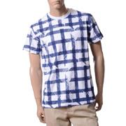 アンドレアインコントリ オーバーフィット半袖Tシャツ コットン ブルー