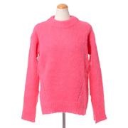 エリカカヴァリーニ クルーネックセーター モヘアアルパカミックス ピンク