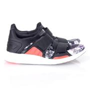 ステラマッカートニー  花柄スニーカー adidas by STELLA McCARTNEY ブラック