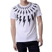 ニールバレット Tシャツ サンダープリント ホワイト