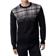ニールバレット タータンチェックセーター ウール ブラック
