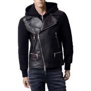ニールバレット レザー切り替えボンディングジャケット ブラック