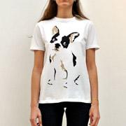 エトレセシル フレンチブルドックTシャツ コットン ホワイト