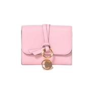 クロエ ALPHABET 二つ折り財布 カーフスキン ピンク