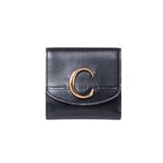 クロエ CHLOE C 二つ折り財布 カーフスキン ブラック
