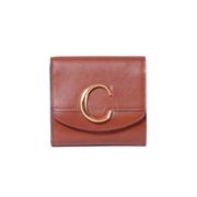 クロエ CHLOE C二つ折り財布 カーフスキン セピアブラウン