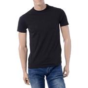 アルマーニジーンズ ブランドロゴバックプリントTシャツ コットンジャージー ブラック