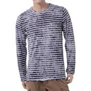 アルマーニジーンズ ボーダープリントロングTシャツ ホワイト