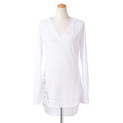 トーマスワイルド ロングハトメTシャツ コットン ホワイト