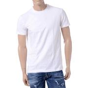 ディースクエアード 丸首Tシャツ 刺繍ロゴ ホワイト