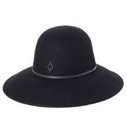 マルセロブロン ハット ロングタイプ ROUND HAT ボルサリーノ ブラック