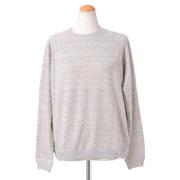 ブルネロクチネリ 長袖丸襟セーター 麻ニット ラメグレー