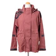 ステラマッカートニー アディダス adidas 柄入りフード付きジャケット プレーンウィーブ クレイレッド