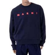 マルニ スウェットシャツ・トレーナー オーガニックコットンジャージー ネイビーレッド