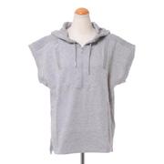 ステラマッカートニー アディダス adidas フード付き半袖Tシャツ ワッフル ミディアムグレイヘザー