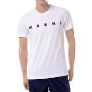 マルニ ロゴプリント半袖Tシャツ オーガニックコットンジャージー ホワイト