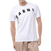 マルニ ディトルテッドロゴプリントTシャツ コットン リリーホワイト