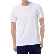 マルニ バックフラワープリント半袖Tシャツ オーガニックコットンジャージー リリーホワイト
