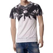 フィリッププレイン オールイーグルプリントTシャツ ホワイト