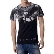 フィリッププレイン オールイーグルプリントTシャツ ブラック