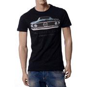 フィリッププレイン カープリントTシャツ ブラック