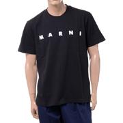 マルニ ブランドロゴTシャツ コットン ブラック