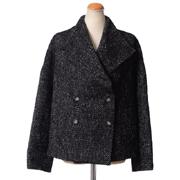 クリスチャンワイナンツ ショートコートジャケット ツィード ブラック/ホワイト