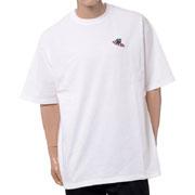 ジェイクベルフォート ビッグシルエット半袖スウェットTシャツ サメ1刺繍 コットン エンブロイダリー ホワイト