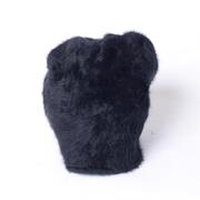 インポートブランド シャーリング入りニット帽 圧縮アンゴラ ブラック