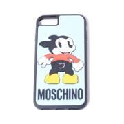 モスキーノ 犬iPhone7/8ケース ライトブルー