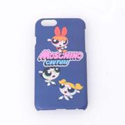モスキーノ ロゴiPhone6用ケース パワーパフガールズ ネイビー
