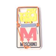 モスキーノ チーズトラップiPhone6/6S/7用ケース シリコン ベージュ
