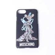 モスキーノ iPhone6/6S/7用ケース 空き缶ドレスプリント ブラック