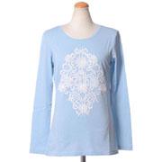 モスキーノ チープアンドシック 刺繍ロングカットソー コットン ライトブルー