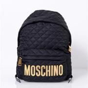 モスキーノ MOSCHINOロゴバックパック キルティング ブラック
