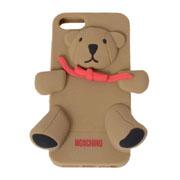 モスキーノ テディベア iphoneケース 5/5S/5C ブラウン