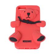モスキーノ テディベア iphoneケース 5/5S/5C レッド